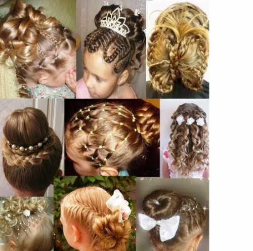 Причёски на выпускной в детском саду фото: виды