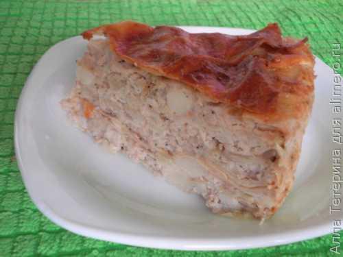 Рецепты мясного пирога из лаваша с фаршем: