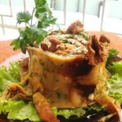 Оригинальный и праздничный салат Трухлявый пень