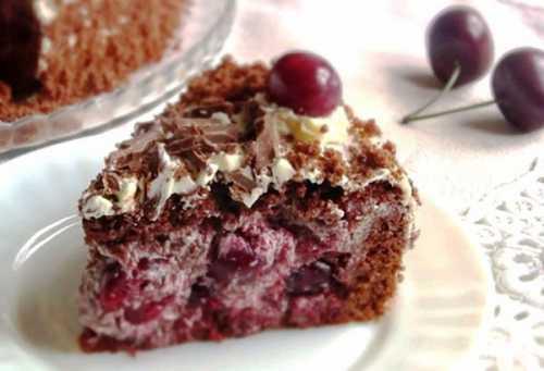 Рецепты торта Пьяная вишня: пошагово с фото,