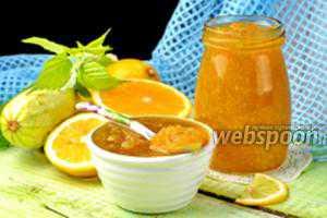 Варенье из дыни с апельсином и лимоном