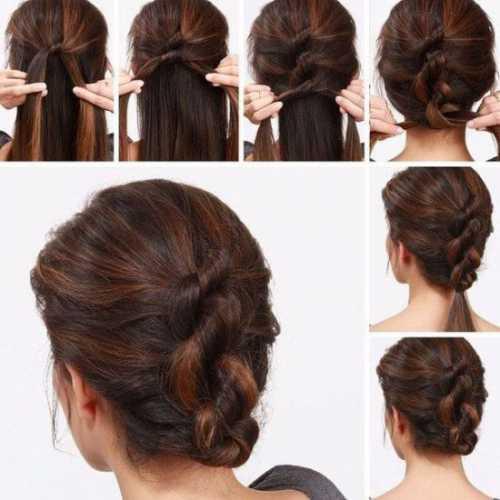 Простые прически на длинные волосы: виды хвостов,